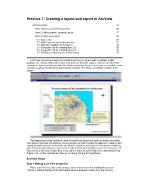 Lecture ERS 120: Principles of GIS - Practice 7: Creating a layout and report in ArcView - N.D.Bình