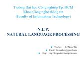 Natural Language Processing - Chapter 3: Basic principles for NLP