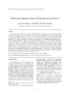 A Watermark Algorithm Against De-Synchronization Attacks