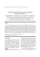 An Experimental Investigation of Part-Of-Speech Taggers for Vietnamese
