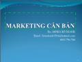 Bài giảng Marketing cơ bản - Chương 2: Thị trường và hành vi người tiêu dùng - Đinh Chí Thành
