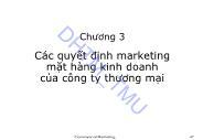 Bài giảng Marketing Thương mại - Chương 3: Các quyết định marketing mặt hàng kinh doanh của công ty thương mại