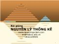 Bài giảng Nguyên lý thống kê - Chương 1: Tổng quan về Nguyên lý Thống kê - Nguyễn Ngọc Lâm
