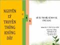 Bài giảng Nguyên lý truyền thông không dây - Đề tài: Tìm hiểu về Wi-fi và ứng dụng - Trần Thị Thu Huyền