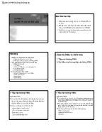 Bài giảng Quản trị hệ thống thông tin - Chương 3, Phần 3: Quản trị cơ sở dữ liệu