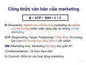 Bài giảng Quản trị Marketing - Chuyên đề 2: Research