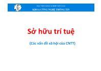 Bài giảng Tin học đại cương - Chương 8: Sở hữu trí tuệ (Các vấn đề xã hội của CNTT) - Học viện Nông nghiệp Việt Nam