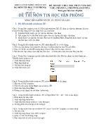 Đề số 1: Đề thi môn tin học văn phòng
