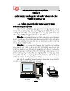Giáo trình Giáo trình Bảo trì máy tính và cài đặt phần mềm - Phần 1: Giới thiệu khái quát về máy tính và các thiết bị ngoại vị