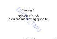 Giáo trình Marketing quốc tế - Chương 3: Nghiên cứu và điều tra marketing quốc tế