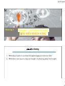 Giáo trình Marketing Thương mại - Chương 3: Shopper customer Insight Thấu hiểu khách hàng