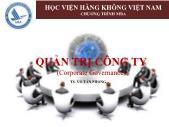 Giáo trình Quản trị công ty - Chương 1: Tổng quan về quản trị công ty - Võ Tấn Phong