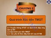 Giáo trình Quảng cáo và xúc tiến thương mại quốc tế - Chương 2: Quá trình xúc tiến TMQT