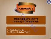 Giáo trình Quảng cáo và xúc tiến thương mại quốc tế - Chương 7: Marketing trực tiếp và hội chợ - Triển lãm QT