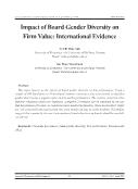 Impact of Board Gender Diversity on Firm Value: International Evidence - Vo Thi Thuy Anh