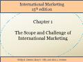 International Marketing - Chapter 1: The Scope and Challenge of International Marketing