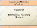 International Marketing - Chapter 15: International Marketing Channels