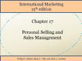 International Marketing - Chapter 17: Personal Selling and Sales Management