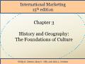 International Marketing - Chapter 3: History and Geography: The Foundations of Culture