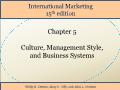 International Marketing - Chapter 5: Culture, Management Style, and Business Systems