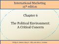 International Marketing - Chapter 6: The Political Environment: A Critical Concern