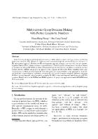 Multi-Criteria Group Decision Making with Picture Linguistic Numbers