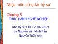 Nhập môn công tác kỹ sư công nghệ thông tin - Chương 5: Thực hành nghề nghiệp - Nguyễn Tuấn Anh