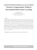 Toward A Comprehensive Model of International Joint Venture Learning - Phan Thi Thuc Anh
