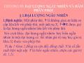 Bài giảng môn Xác suất - Chương 3: Đại cương ngẫu nhiên và Hàm phân phối