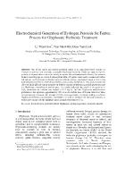 Electrochemical Generation of Hydrogen Peroxide for Fenton Process for Glyphosate Herbicide Treatment
