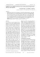 Nghiên cứu xác định dạng tồn tại của Cr trong một số nguồn nước khu vực Thái Nguyên