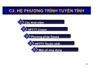 Bài giảng Toán kinh tế 1 - Chương 2: Hệ phương trình tuyến tính - Nguyễn Ngọc Lam
