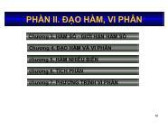 Bài giảng Toán kinh tế 1 - Chương 3: Hàm số và giới hạn hàm số - Nguyễn Ngọc Lam
