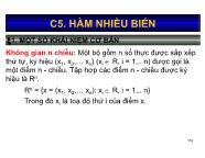 Bài giảng Toán kinh tế 1 - Chương 5: Hàm nhiều biến - Nguyễn Ngọc Lam