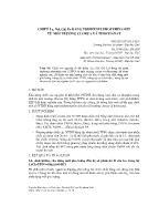 Chiết La, Nd, Gd, Er bằng Triphenylphotphin Oxit từ môi trường Clorua và Thioxianat - Nguyễn Đình Luyện