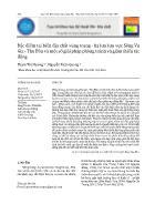 Đặc điểm tai biến địa chất vùng trung - Hạ lưu lưu vực Sông Vu Gia - Thu Bồn và một số giải pháp phòng tránh và giảm thiểu tác động