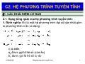 Giáo trình Toán kinh tế 1 - Chương 2: Hệ phương trình tuyến tính - Nguyễn Ngọc Lam