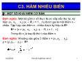 Giáo trình Toán kinh tế 2 - Chương 3: Hàm nhiều biến - Nguyễn Ngọc Lam