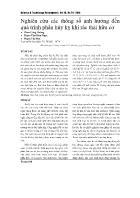 Nghiên cứu các thông số ảnh hưởng đến quá trình phân hủy kỵ khí rác thải hữu cơ - Phan Công Hoàng