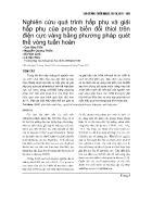 Nghiên cứu quá trình hấp phụ và giải hấp phụ của probe biến đổi thiol trên điện cực vàng bằng phương pháp quét thế vòng tuần hoàn - Cao Hữu Tiến
