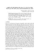 Nghiên cứu thành phần hóa học các cấu tử bay hơi trong quả mít chín (Artocarpus Heterophyllus Lamk) - Nguyễn Chí Bảo