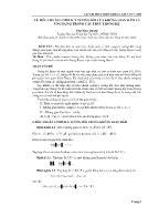 Về tiêu chuẩn Compact tương đối của không gian hàm và ứng dụng trong cấu trúc thống kê - Ung Ngọc Quang