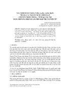 Xác định hàm lượng Ni(II), Cu(II), Cd(II), Pb(II) trong các nguồn nước sinh hoạt ở huyện Triệu Phong - Tỉnh Quảng Trị bằng phương pháp quang phổ hấp thụ nguyên tử - Hoàng Thị Hoài Phương