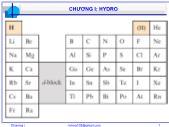 Bài giảng Hóa vô cơ A - Chương 1: Hydro - Nguyễn Văn Hòa