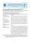 Khảo sát đặc điểm hình thái và đặc tính di truyền bằng dấu chỉ thị phân tử Issr của các giống thanh trà ((Bouea oppositifolia (Roxb.)) Meisne.) tại thị xã Bình Minh, tỉnh Vĩnh Long - Lê Y Phụng
